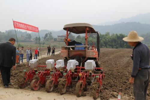 重庆市榨菜生产机械化技术试验成功启动