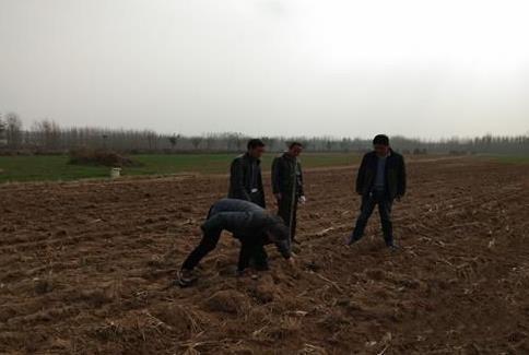 山东沂水农机局深入一线检查农机深松整地作业质量
