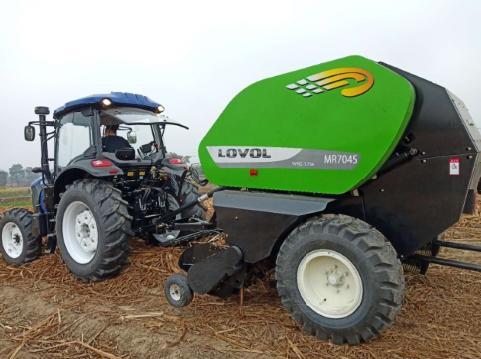 雷沃打捆机助力秸秆牧草回收