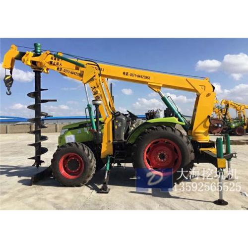 大海多功能挖坑机扭距大打坑快耐用