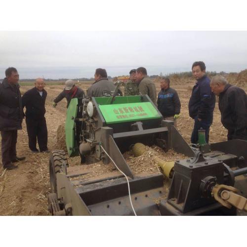 黑龙江新型棉花秸秆回收机价格黄储秸秆揉丝捡拾机