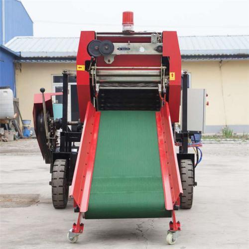 全自动打捆包膜机 养殖场青贮打包机 青饲料包膜机