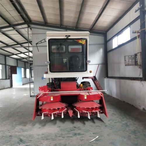 大型圆盘式割台青储机 黄储机 自走式青贮收割机