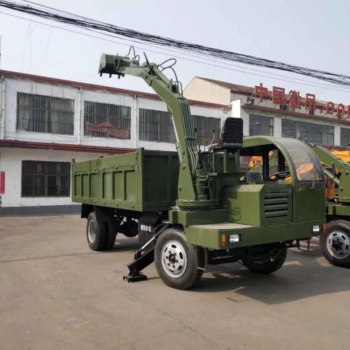 小型挖掘机械 农用自装自卸车