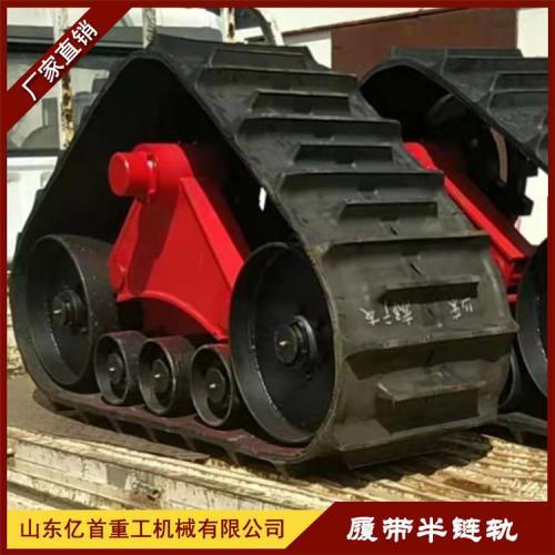 拖拉机安装三角履带轮水田泥地作业一马平川